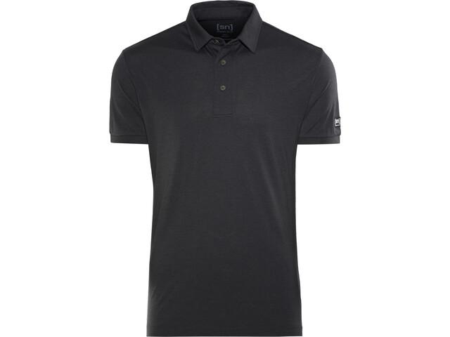 super.natural Essential Poloshirt Heren, jet black